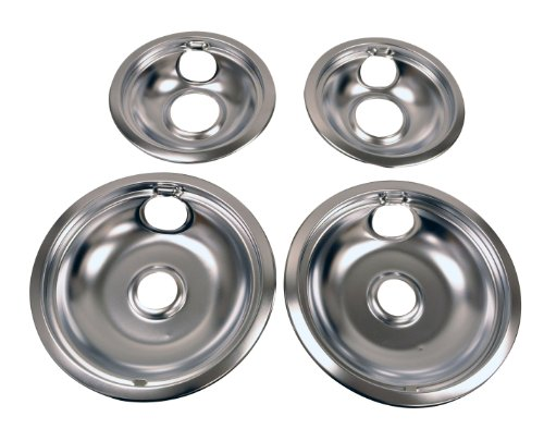 Whirlpool W10278125 Drip Pan Kit Chrome Electric Stove