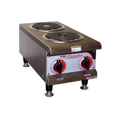 apw wyott ehp 208v electric dual burner hot plate electric s